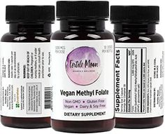 Amazon.com: Vegan Methyl Folate by Fertile Moon® - 1000 mcg (1 mg) per Capsule - 30 Capsules per Bottle - Non-GMO, No Gluten, No Dairy, No Soy: Health & Personal Care