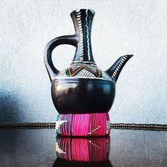Gorgeous Jebena (coffee pot) used in traditional Ethiopian coffee ceremony.  Jebenacollective.com