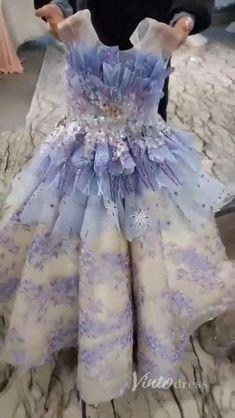 Frozen Inspired Ball Gown Prom Dresses for Girls KD1001