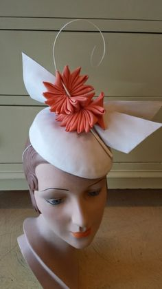 Leather & Cockade hat by VICTORIA HENDERSON #millinery #HatAcademy #hats