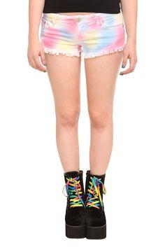 shorts, tie dye, pastel, legs, shoe laces, tie dye, rainbow, awesome