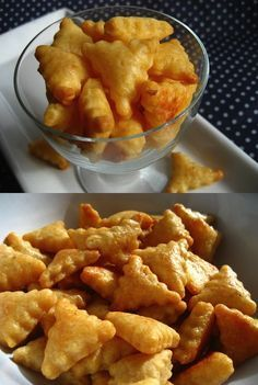 #DIY Cheddar Crackers #Recipe: Reminiscent of Goldfish Crackers (or Cheez-its), using simple ingredients