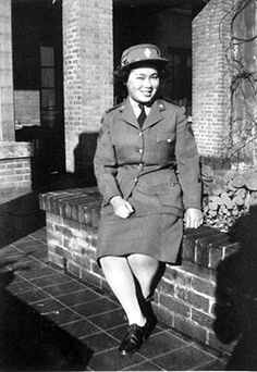 Marion Laura Wong (Mah) enlisted with the CWAC (Canadian Women's Army Corps) in Vancouver, British Columbia where she was employed as a teletype keyboard operator. She was the only Chinese Canadian woman working in the Vancouver barracks of the Royal Canadian Signal Corps, then stationed out of the old Vancouver Hotel ~