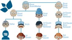 A fantastic resource to explaining those  pesky relationships called cousins- removed or otherwise. Jimmy's Guide to Cousins