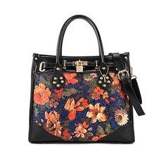 Floral Pattern Shoulder Bag - Polyvore