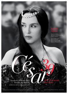 39th César 2014' poster with Isabelle Adjani (Queen Margot/ La Reine Margot - 1994)