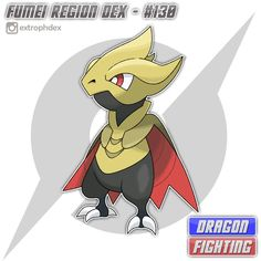 "Ragnagon enters the Fumei Dex! ⚜️ Ragnagon, the Courageous Pokemon [Dragon/Fighting] Ragnagon --Max Friendship--> Pendrazen ⚜️ Height: 4'3"" (1.30 m) Weight: 43.9 lbs (19.9 kg) ⚜️ Steadfast / Adaptability // Soul Heart ⚜️ HP - 61 ATK - 52 DEF - 52 SPATK - 61 SPDEF - 52 SPE - 61 ⚜️ ""It has existed for millions of years, reverting into an Egg once more after its life ends. Only trainers with a pure and courageous heart can befriend it."" ""People believe that this Pokemon is courage made flesh…"