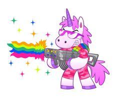 Rainbow Soldier Unicorn Stock Vector