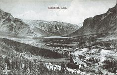Postcard 3052: Bankhead, Alta. (1903]) Canadian Rockies, The Old Days, Banff, Rocky Mountains, Vintage Images, The Past, Old Things, Canada, Laundry Hacks