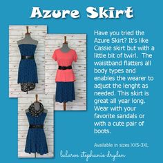 So many ways to wear an Azure Skirt! Perfect all year long.
