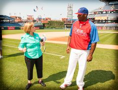 Neither Ellyn Phillips or Ryan  Howard can believe how much the Phillies have done to fight ALS, over 13.5 million dollars since 1984!
