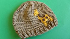 Giraffe knitted hat