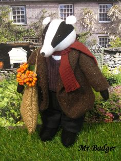 This isn't a pattern, but exactly the kind of pattern I'm looking for for a Wind in the Willows Mr. Badger doll!