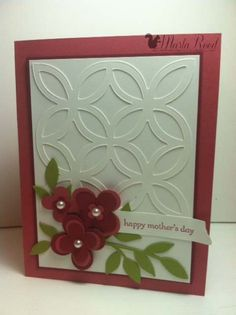 Beautiful card made with the Lattice die!!!