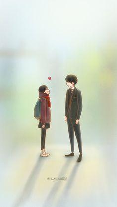 Cute Couple Art, Anime Love Couple, Couple Cartoon, Anime Couples, Cute Couples, My Shy Boss, Goblin Art, Ost Goblin, Goblin Korean Drama