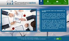 Diseño de sitio web para Competenciactiva.cl. Otec.