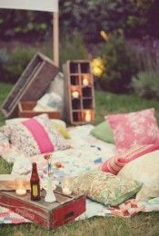 63 Fun Picnic Wedding Ideas In Different Styles Backyard Picnic, Backyard Ideas, Picnic Blanket, Outdoor Blanket, Glamping, Different Styles, Outdoor Spaces, Birthday Candles, Table Decorations