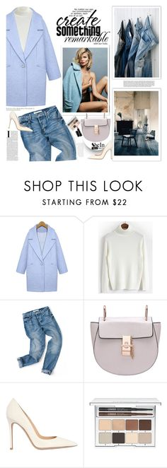 """""""Love me tender"""" by naki14 ❤ liked on Polyvore featuring Gianvito Rossi, Clinique, MAC Cosmetics, Sheinside and shein"""