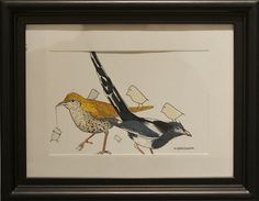 """H. Veng Smith, Small Gathering, 2012, Water Color on Paper, 9""""x7"""".....SOLD"""