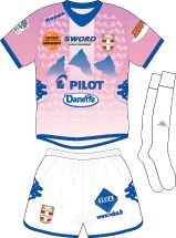 Evian GT of France home kit for 2012-13.