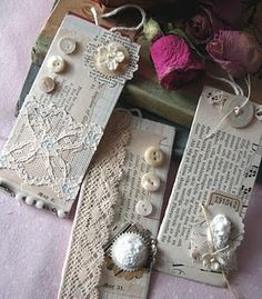 Lace tags.  I have a bit of a love affair going on with lace at the moment so these appeal to me bigly.