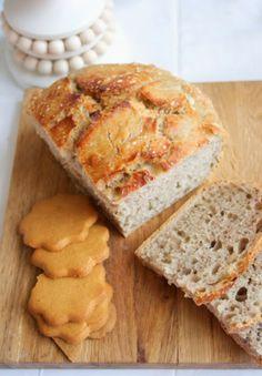 Vaivaamaton joululeipä. No knead bread with Chistmassy spices.