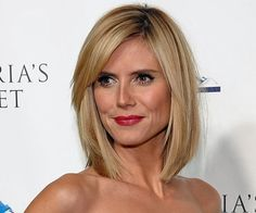 haircuts Heidi Klum always has great hair. Heidi Klum is well known for her modeling career. As a super model, she often appears beautiful and sassy on the screen or. 2015 Hairstyles, Celebrity Hairstyles, Hairstyles With Bangs, Wedding Hairstyles, Hairstyle Ideas, Summer Hairstyles, Braided Hairstyles, Hair Ideas, Medium Hair Cuts