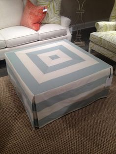 DIY Ottoman : DIY Ottoman Slipcover DIY Furniture