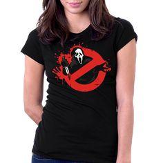 Camiseta Pânico Caça Fantasmas Ghostface Wes Craven