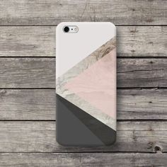 Geometric Grey Color Wood Print iPhone Galaxy LG - michaelcase - Etui na telefon