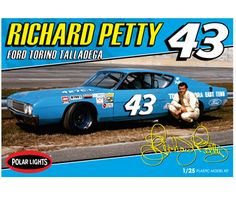 Buy Richard Petty 1969 Talladega Stock Car Model Kit at Mighty Ape NZ. Petty's famed Ford Torino takes the lead! Features: Petty, the biggest name in racing! Fully detailed engine, chassis and interior Authentic Richard Petty, King Richard, Motorcycle Model Kits, Chrysler Cars, Plastic Model Cars, Ford Torino, Model Cars Kits, Nascar Racing, Auto Racing