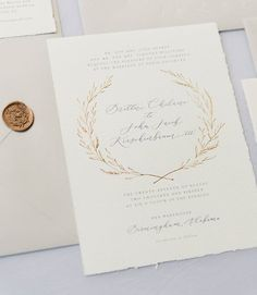 Handmade paper wedding invitations written word calligraphy this is such a stunning wedding invitation love everything about it stopboris Gallery