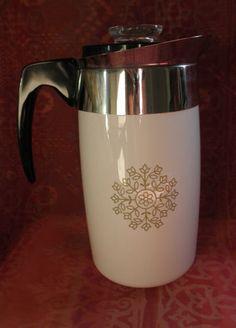 Vintage Corning Medallion 10 cup coffee pot
