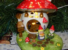Gnome His Home Lady Girl Gnome  MUSHROOM by EnchantdMushroomLand, $50.00