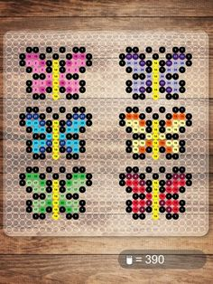 Hama beads butterfly biby creations Couture tutorial pyssla