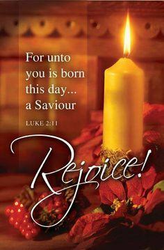for unto us a child is born - rejoice!