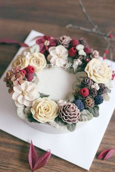 https://www.instagram.com/bomnalcake/ by BOMNAL CAKE #Flowercake, #cake, #peony…: