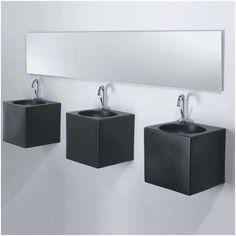 Lavamani quadrato sospeso CUBE by A. Wash Basin, Toilet Restaurant, Ceramics, Bathroom Fixtures, Wall, Home Decor, Italia Design, Luxury Bathroom, Sink