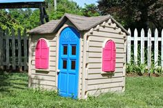 Got an old faded plastic play house? This Little Tikes House makeover will make any plastic toy look like brand new!