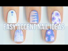1 Manicure, 5 Accent Nail Art Design Ideas!!    KELLI MARISSA - YouTube