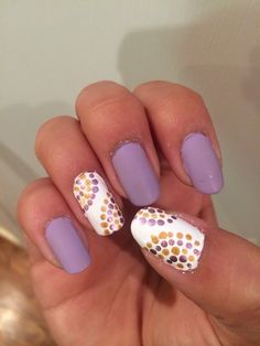 Matte Purple and dots
