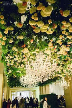 Floral ceiling from WedLuxe Wedding Show 2014