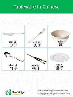 tableware in Chinese vocabulary
