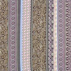 Chiffon Pattern Mix 2 - Polyester - růžová