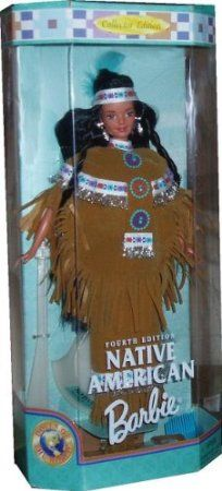 Barbie 1997 Collector Edition Dolls of the World 12 Inch Doll - Fourth Edition Native American Barbie with Poncho, Skirt, Headband, Moccasin...
