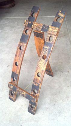 Oak whiskey barrel stave wine bottle rack by SpiritGuy on Etsy, $150.00
