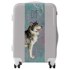 Elegant Alaskan Malemute Luggage   pug gifts, teacup pug, pugs puppies cutest #puglife #myfriendloveme #pugpresents Art Beagle, Beagle Dog, Bulldog Puppies, Racing Dogs, Personalized Luggage, Carry On Luggage, Australian Cattle Dog, Retail Design, Pug Valentine