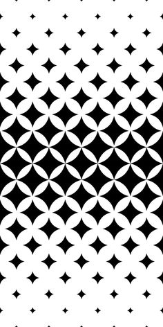 Seamless curved star pattern