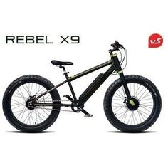 Prodecotech Rebel X9 600 Watt Fat Tire Bike With Fork Suspension