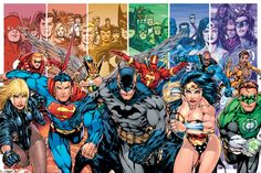 Justice League of America Comic Poster